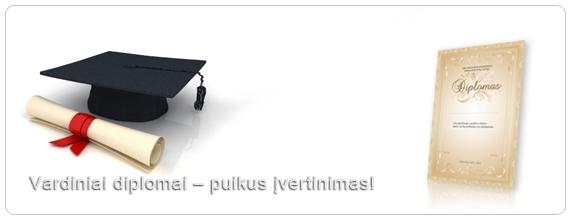 Diplomai, padėkos, sertifikatai