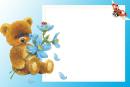 Meškiukas su gėlėmis