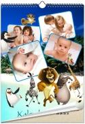 """Keturių lapų kalendorius """"Madagaskaras"""""""